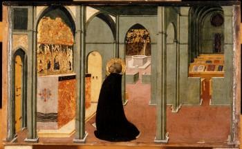 Sassetta: Aquinoi Szt. Tamás imája