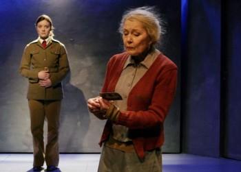 The women of Purge: Elena Leeve and Tea Ista in Sofi Oksanen's Puhdistus at the National Theatre, directed by Mika Myllyaho. Photo: Leena Klemelä, 2007